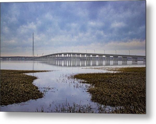 Ponquogue Bridge Hampton Bays Ny Metal Print