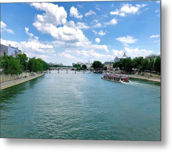 River Seine At Pont Du Carrousel Metal Print