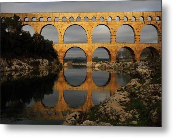 Pont Du Gard Metal Print