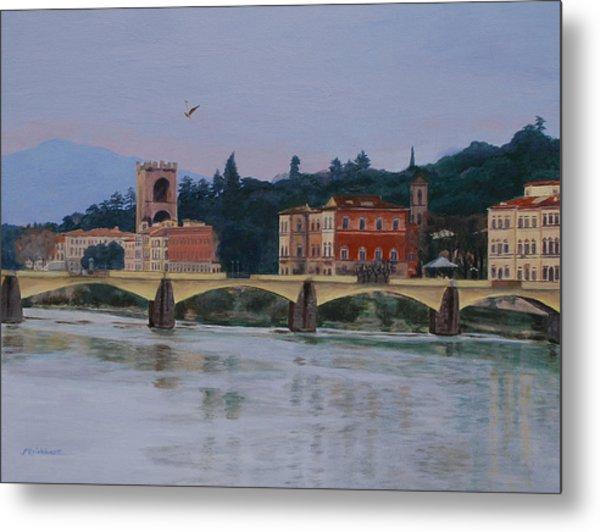 Ponte Vecchio Landscape Metal Print