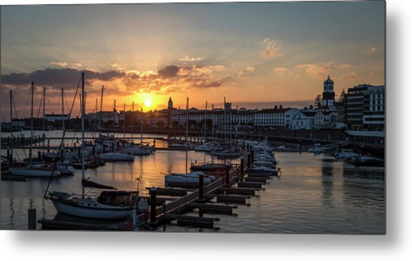 Ponta Delgada Sunset Metal Print