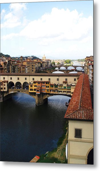 Ponte Vechio Florence Metal Print by Mathew Lodge