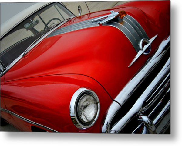 Pontiac Chieftain 1954 Front Metal Print
