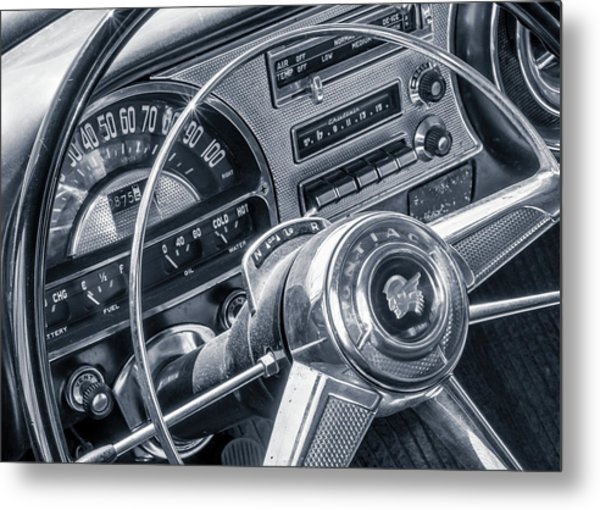 Pontiac Chieftain Dash And Steering Wheel Metal Print