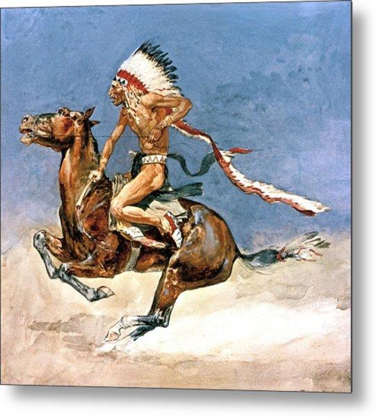 Pony War Dance Metal Print