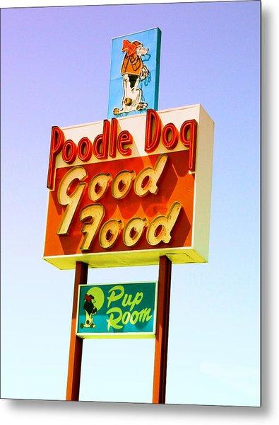 Poodle Dog Diner Metal Print