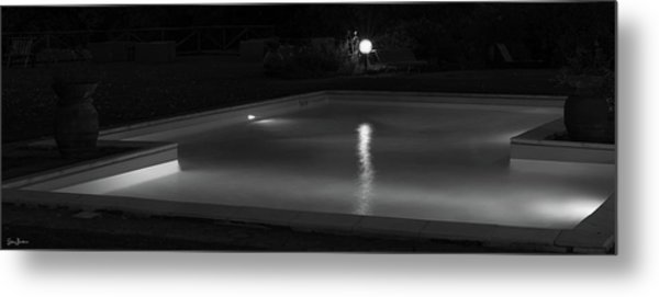 Pool At Night 2 Metal Print