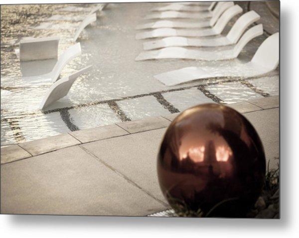 Pool Ball Metal Print