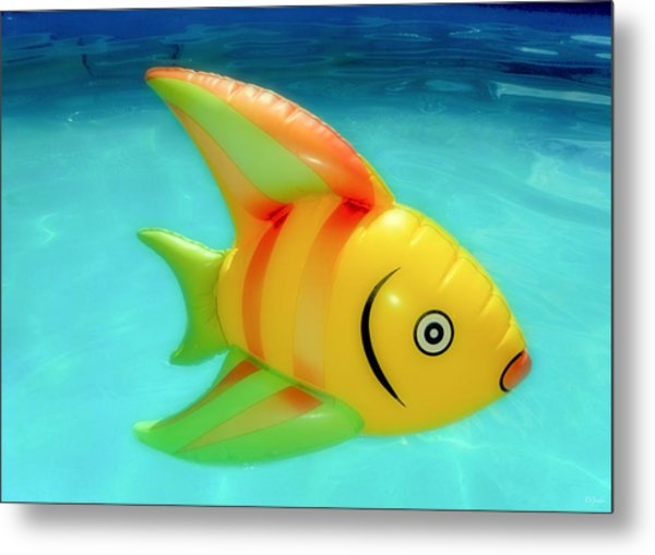 Pool Toy Metal Print