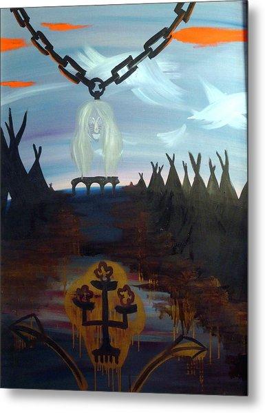 Poor Barbara And The Indians Metal Print by Zsuzsa Sedah Mathe