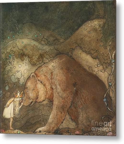 Poor Little Bear Metal Print