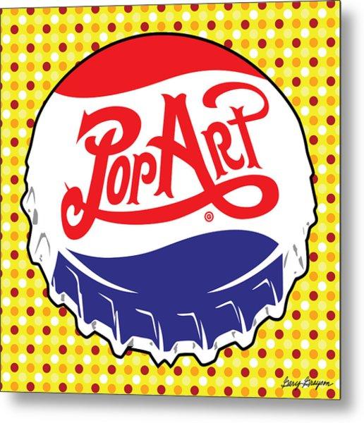 Pop Art Bottle Cap Metal Print