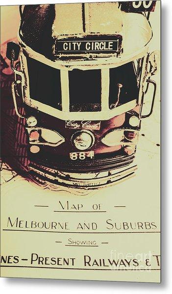 Pop Art City Tours Metal Print
