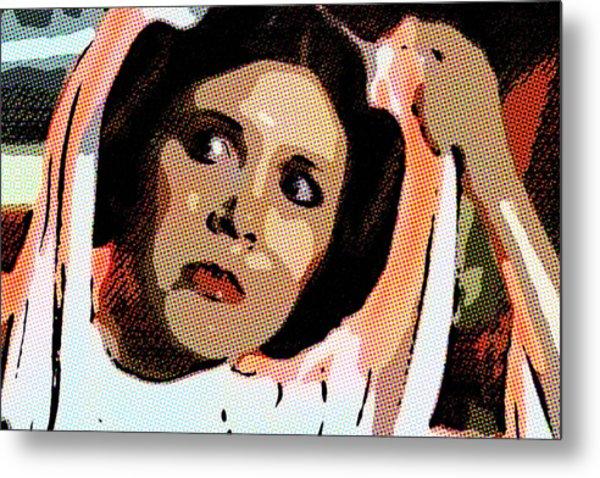 Pop Art Princess Leia Organa Metal Print
