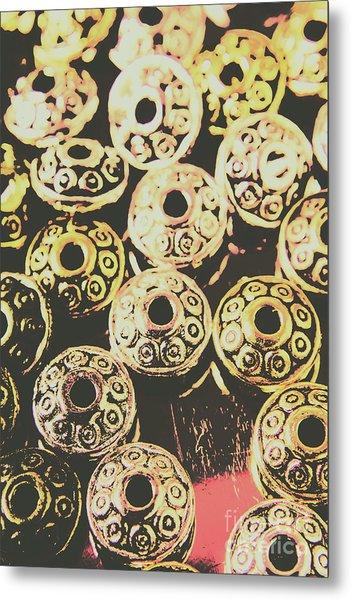 Pop Art Space Invaders Metal Print