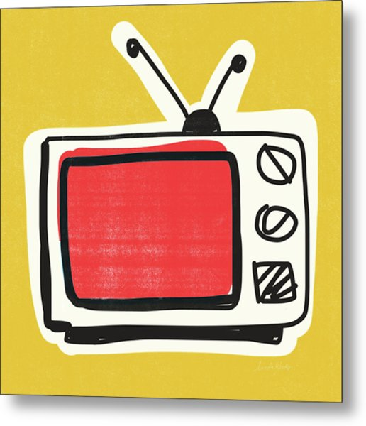 Pop Art Tv- Art By Linda Woods Metal Print