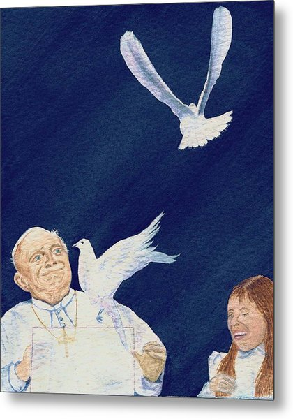 Pope John Paul II Metal Print