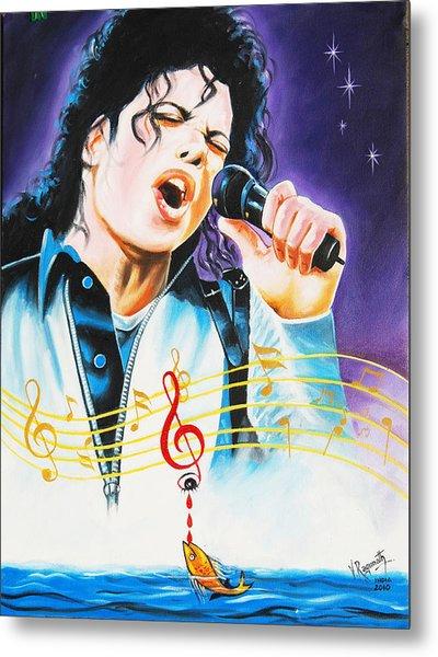 Popking Michael Jackson Metal Print