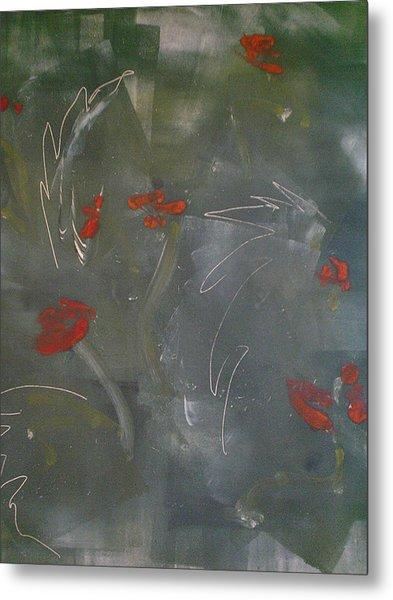 Poppies At Dawn Metal Print by Caprice Scott