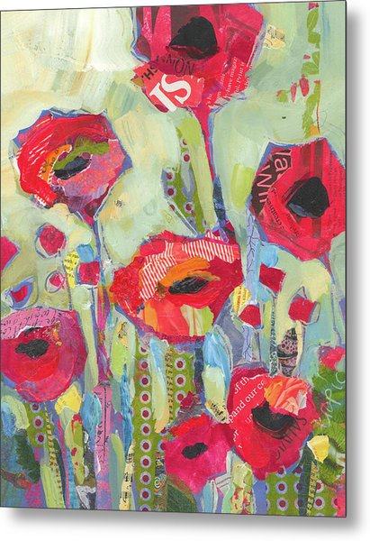 Poppies No 5 Metal Print