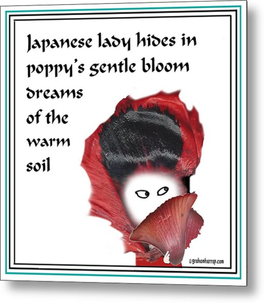 Poppy Lady Metal Print