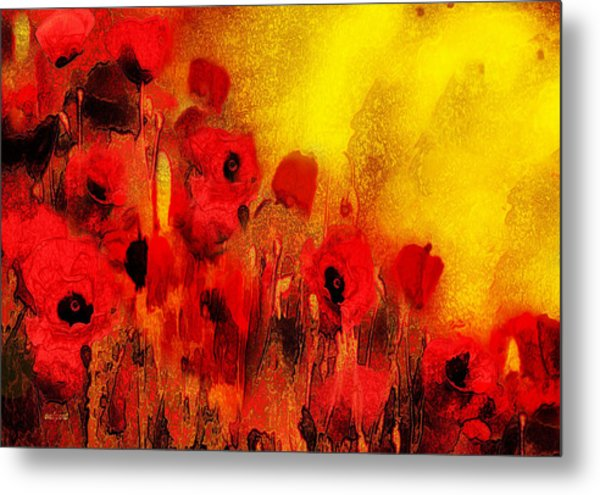 Poppy Reverie Metal Print