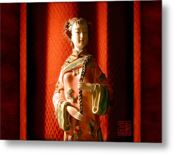 Porcelain Figure Metal Print