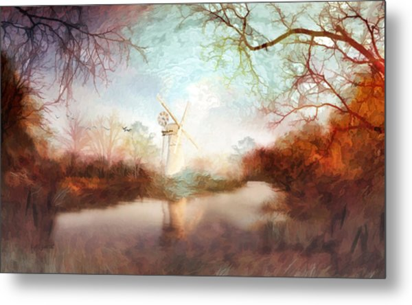 Porcelain Skies Metal Print