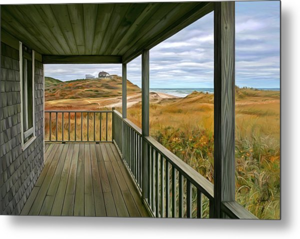 Porch View Metal Print