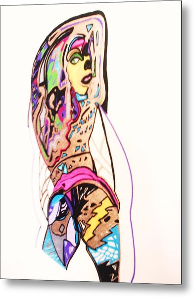 Porn Babes-amy Metal Print by HollyWood Creation By linda zanini