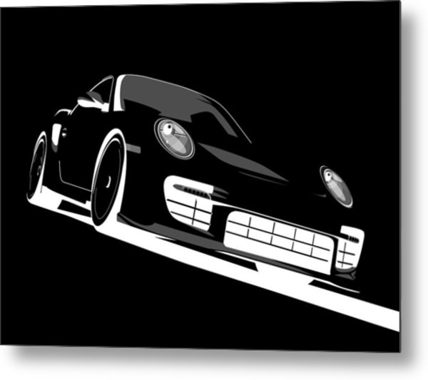 Porsche 911 Gt2 Night Metal Print
