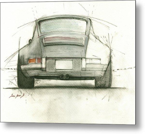 Porsche 911 Rs Metal Print
