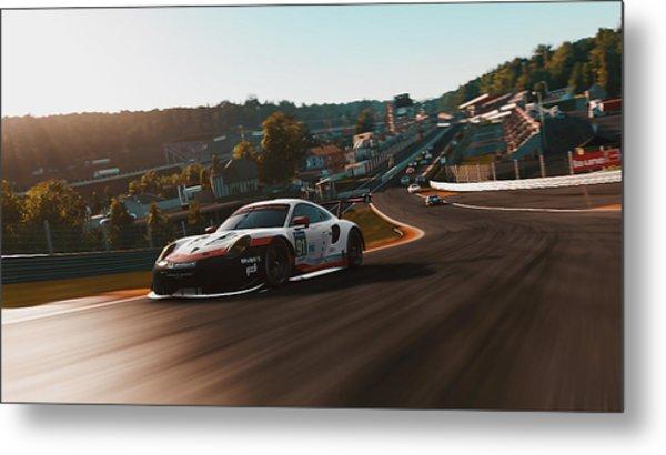 Porsche 911 Rsr, Spa-francorchamps - 33 Metal Print