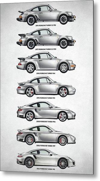Porsche 911 Turbo Evolution Metal Print