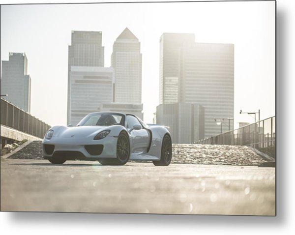Porsche 918 Spyder Canary Wharf Metal Print