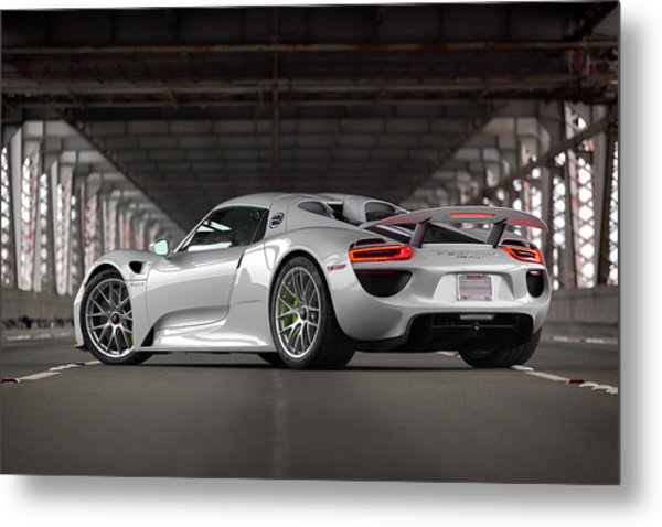 Metal Print featuring the photograph #porsche #918spyder #print by ItzKirb Photography