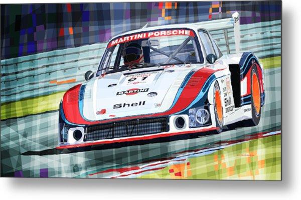 Porsche 935 Coupe Moby Dick Martini Racing Team Metal Print