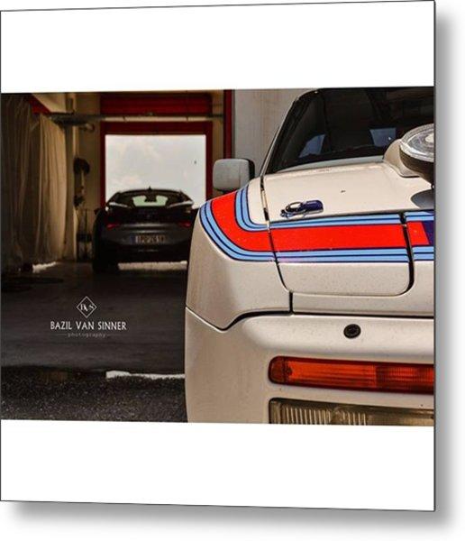 #porsche #944 #martini #stripes #bmw Metal Print