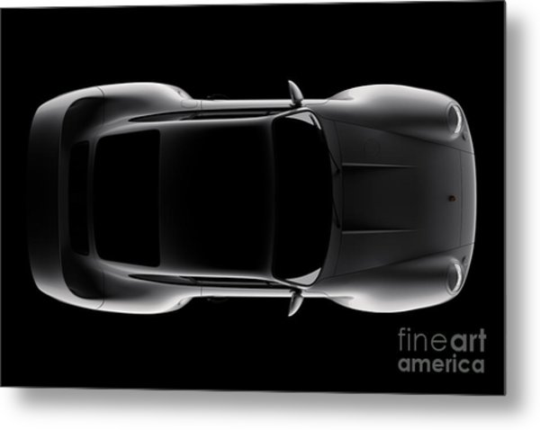 Porsche 959 - Top View Metal Print