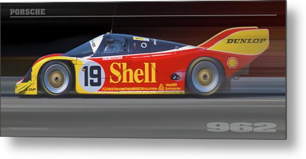 Porsche 962 Andretti Metal Print