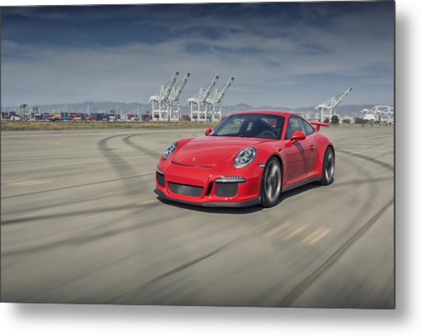 Metal Print featuring the photograph Porsche 991 Gt3 by ItzKirb Photography