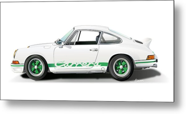 Porsche Carrera Rs Illustration Metal Print