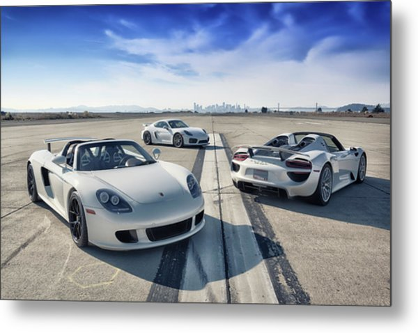 Metal Print featuring the photograph #porsche #carreragt,  #918spyder,  #cayman #gt4 by ItzKirb Photography