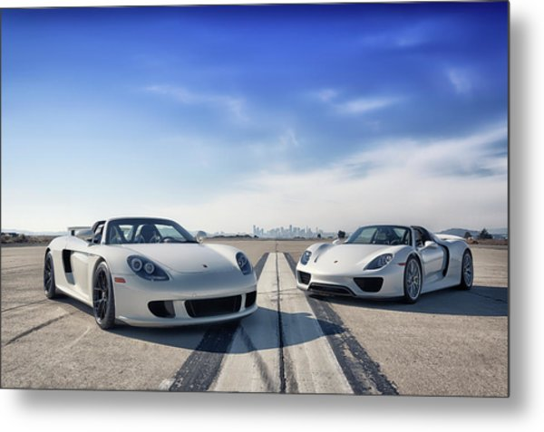 Metal Print featuring the photograph #porsche #carreragt And #918spyder by ItzKirb Photography