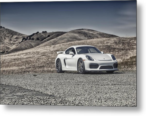 Metal Print featuring the photograph Porsche Cayman Gt4 In The Wild by ItzKirb Photography