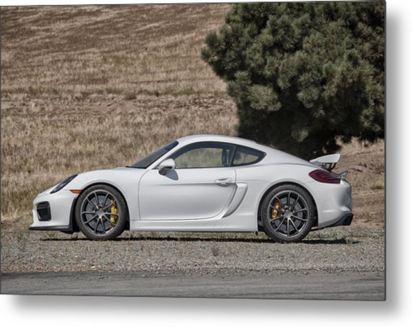 Porsche Cayman Gt4 Side Profile Metal Print