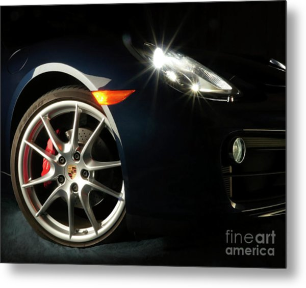 Porsche Cayman S Night Detail Metal Print