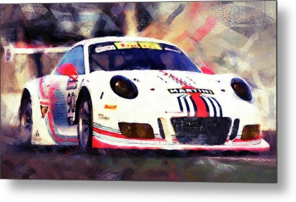 Porsche Gt3 Martini Racing - 04 Metal Print by Andrea Mazzocchetti
