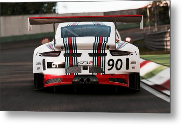 Porsche Gt3, Martini Racing, Monza - 03 Metal Print