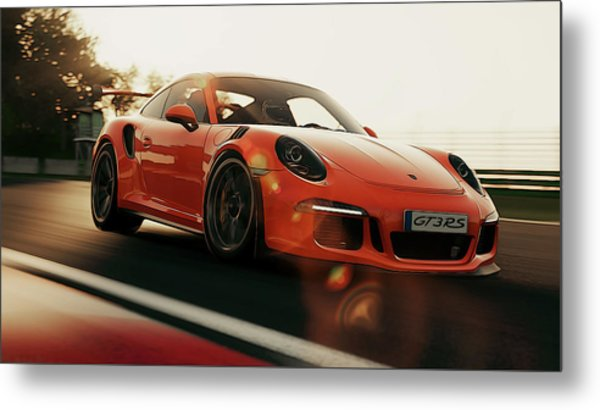 Porsche Gt3 Rs - 4 Metal Print